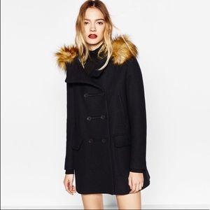 NWOT. ZARA Duffle Coat